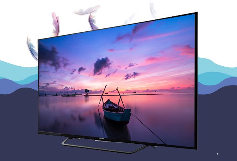 Thiết kế mỏng, sang trọng đầy tinh tế trên Smart Tivi Sony 55X7000D