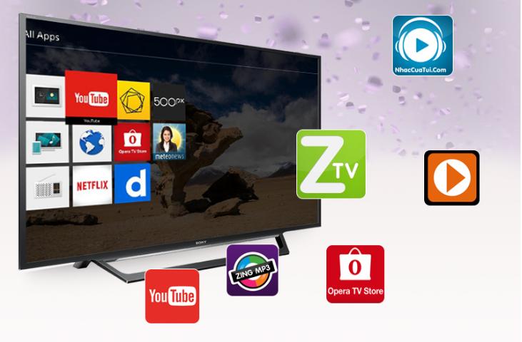Khả năng truy cập mạng Internet nhanh chóng của Tivi Sony 55W650D