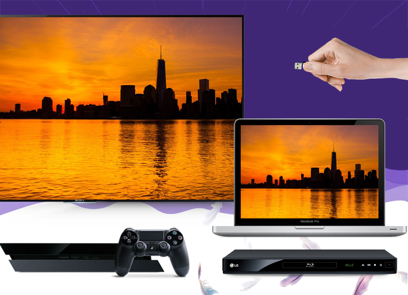Sony 55X9000 kết nối với mọi loại thiết bị