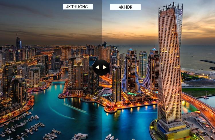 Công nghệ hình ảnh hiện đại 4K HDR