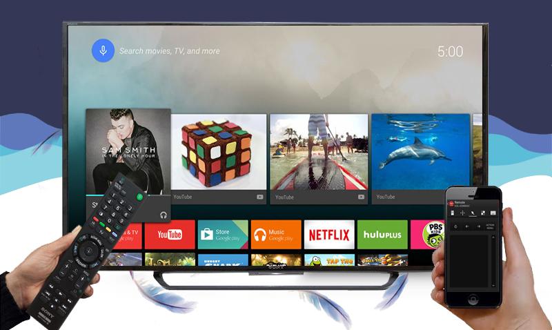 Điều khiển tivi Sony 49X8000 bằng điện thoại thông minh
