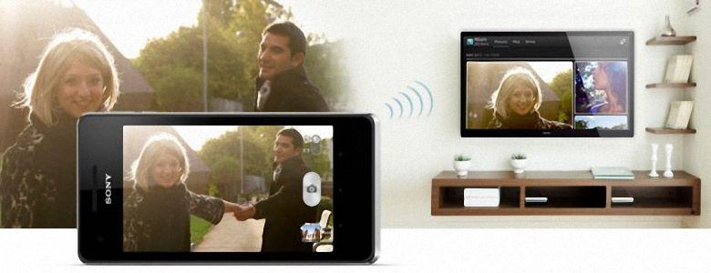 Hình ảnh được phản chiếu từ điện thoại sang tivi Sony với Screen Mirroring