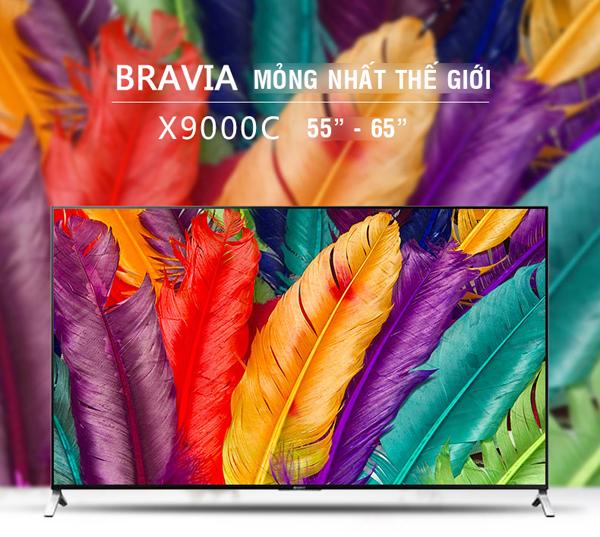 Với thiết kế siêu mỏng, tivi Sony 65X9000 giống như một bức trang treo tường tinh tế, tuyệt đẹp