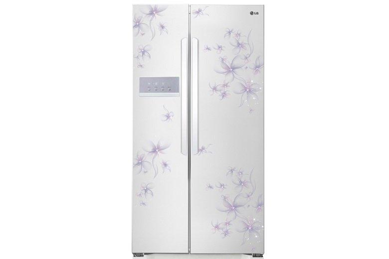 Tủ lạnh hai cánh sang trọng, hoa văn nhã nhặn