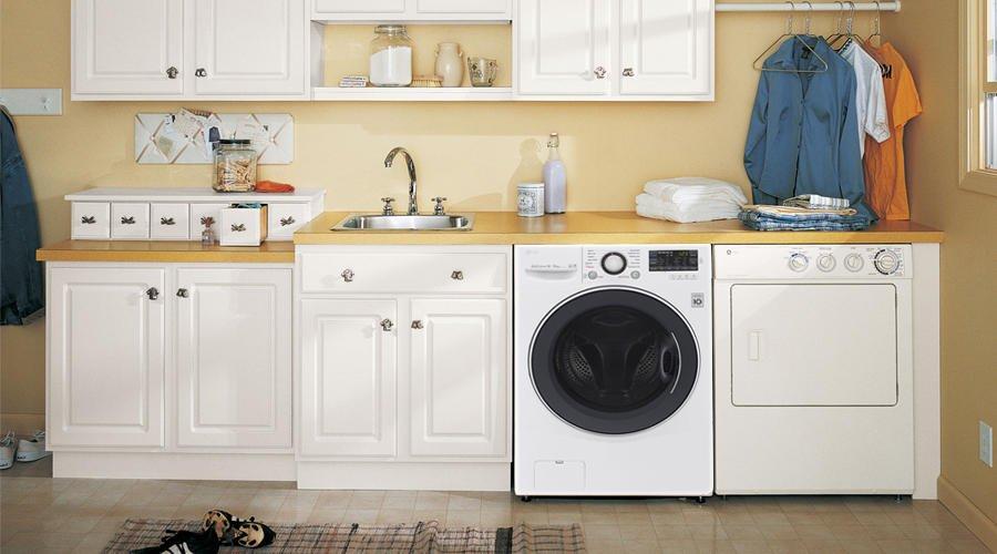 Thiết kế lý tưởng với máy giặt cửa trước với máy giặt LG F2514DTGW 14Kg