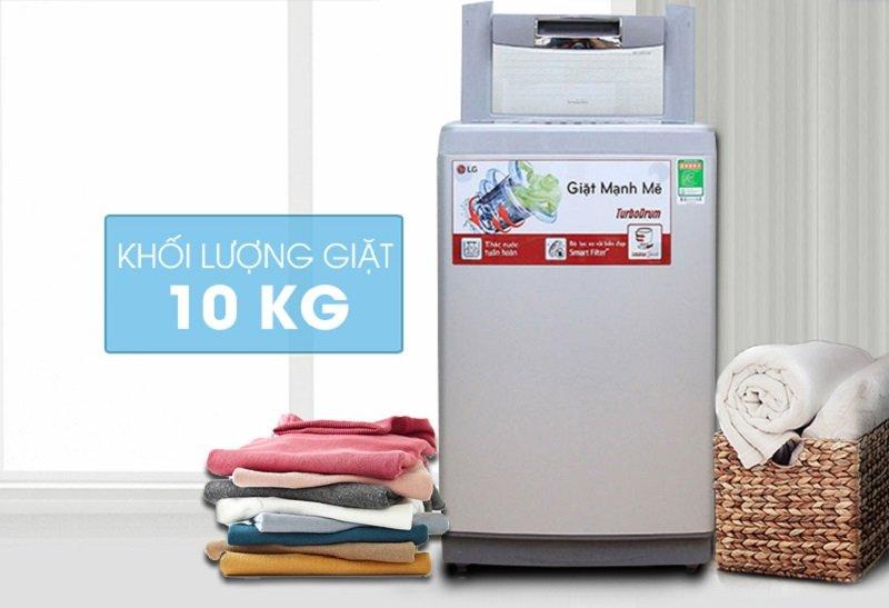 Mang vẻ đẹp ở thiết kế máy giặt lồng đứng với máy giặt LG WF-S1015DB 10Kg