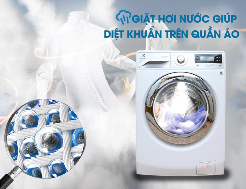 Tính năng giặt hơi nước với Máy giặt Electrolux 12932
