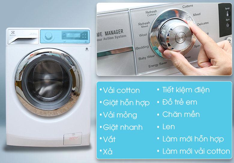 Thoải mái chọn lựa chương trình giặt