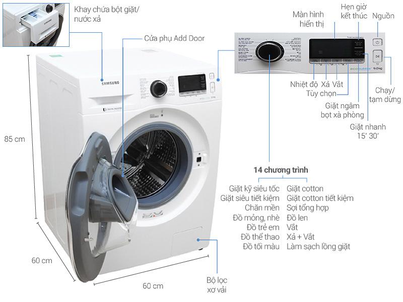 Máy giặt Electrolux 9 kg EWF12932 - Thiết kế sang trọng và hiện đại