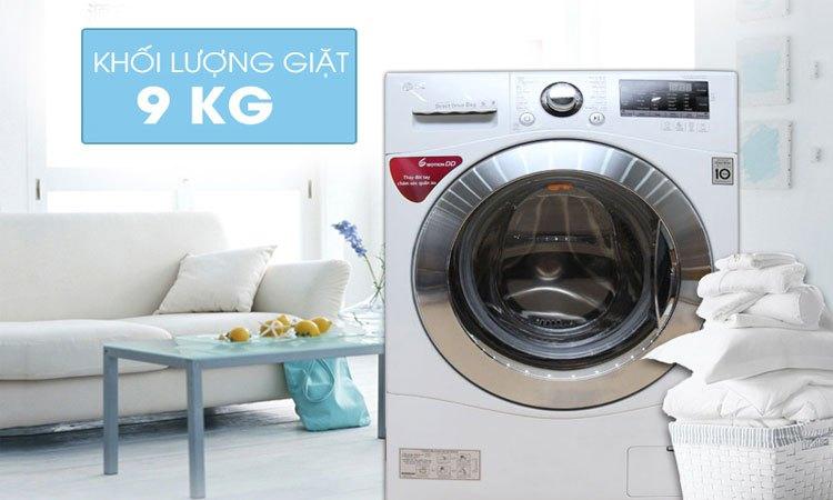 Máy giặt EWF12932S - Khối lượng giặt lên đến 9 kg