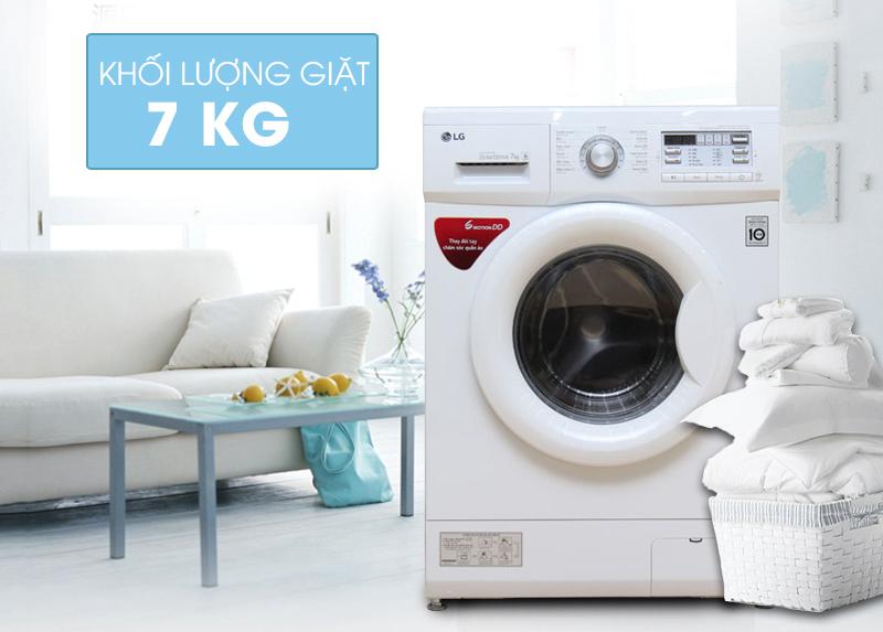 Thiết kế thanh lịch, hiện đại của máy giặt LG 7 kg F1407NMPW