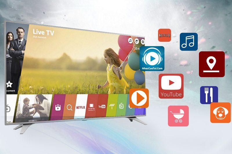 Smart tivi LG 49UH617T - Kênh giải trí tổng hợp, đa dạng