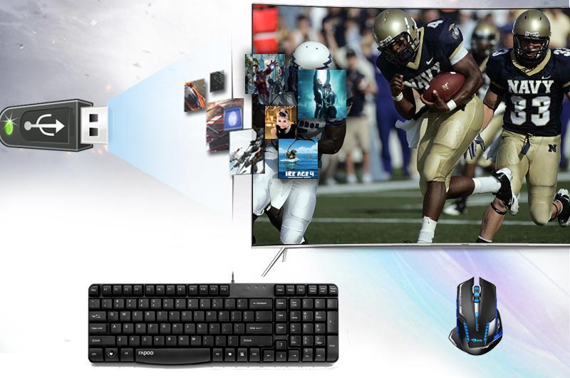 Kết nối tivi với máy tính, USB, dàn máy, đầu đĩa...
