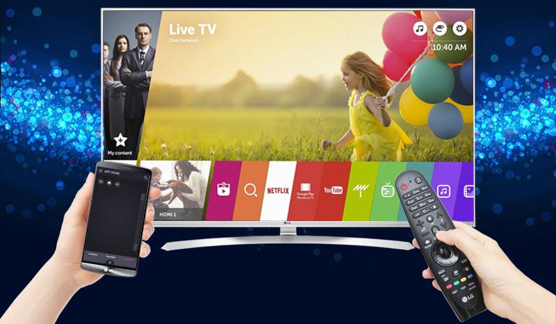 Tải ứng dụng LG TV Plus về điện thoại để điều khiển Tivi LG 55UH850T