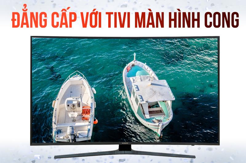 Tivi Samsung 43KU6500 Thiết kế nổi bật với màn hình uốn cong độc đáo,