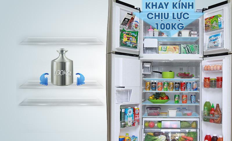 Sử dụng khay tủ lạnh kính cao cấp
