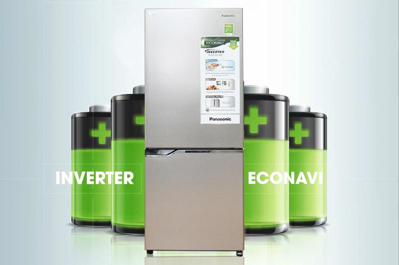 Công nghệ Inverter và cảm biến Econavi tiện lợi với tủ lạnh Panasonic 255 lít NR-BV288QSV
