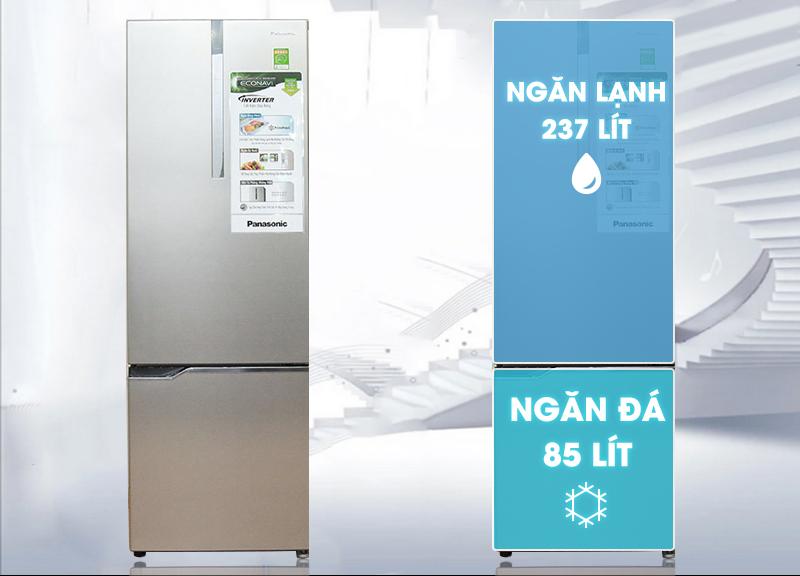 Thiết kế đặc trưng theo xu hướng mới với tủ lạnh Panasonic NR-BV368XSVN 322 lít