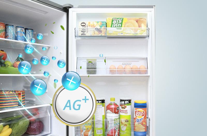 Khử mùi tiện ích với tinh thể bạc Ag Clean của tủ lạnh NR-BV368XSVN