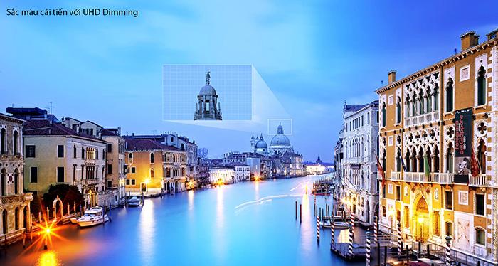 Sắc Màu Cải Tiến với UHD Dimming Trên Samsung 40KU6000