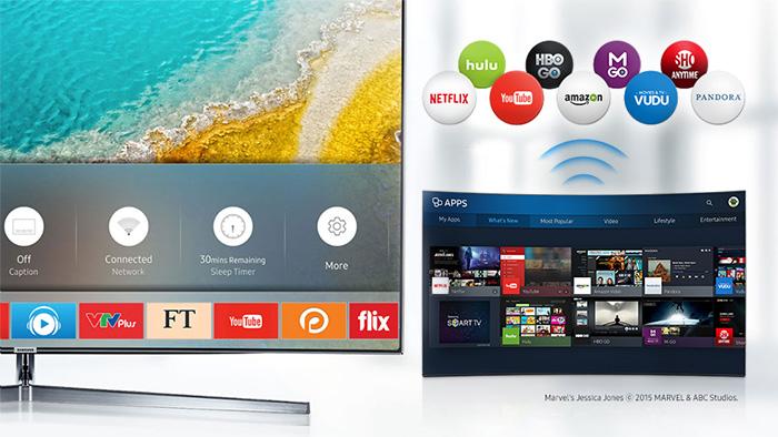 Tivi Samsung 55k5500 kết nối không dây mượt mà