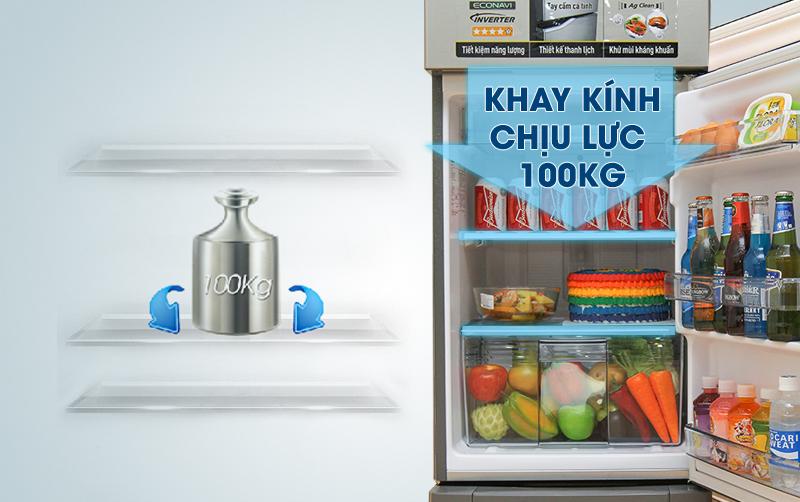 Ngăn chứa đồ hiện đại, mạnh mẽ với tủ lạnh  167 lít NR-BA188PSVN