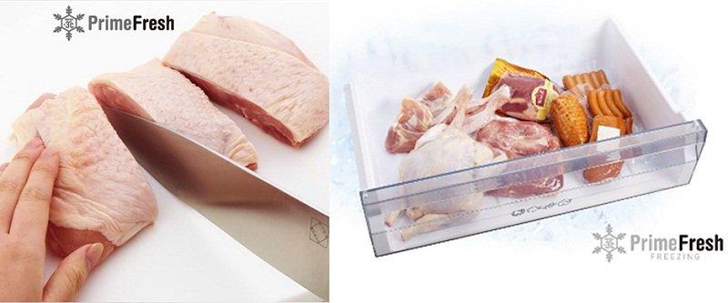 Hệ thống Prime Fresh giúp thực phẩm đông mà không cứng
