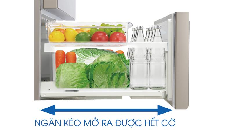 Ngăn chứa kéo dễ dàng, diện tích lớn với tủ lạnh NR-F510GT-W2