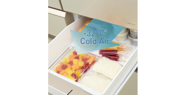 Điều chỉnh nhiệt độ ấn tượng với ngăn lạnh