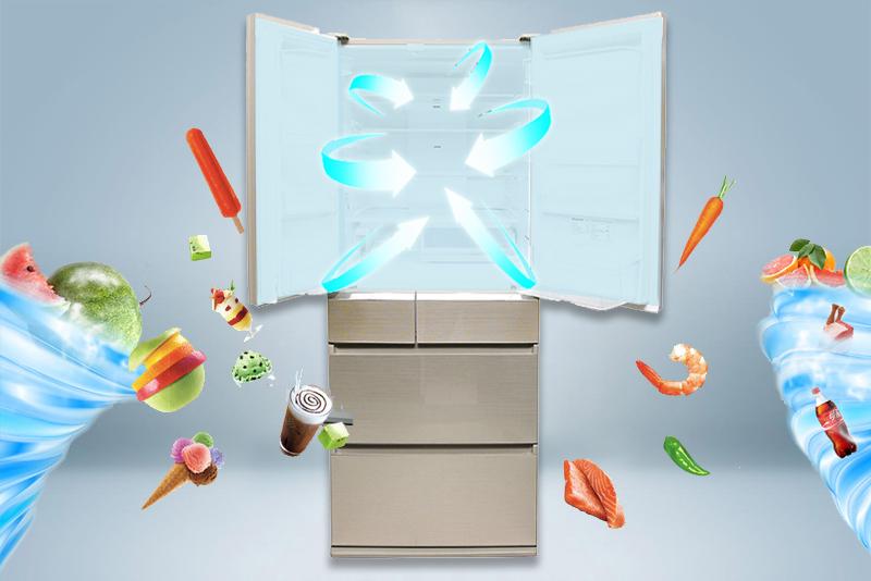 Làm lạnh hiện đại với công nghệ Panorama của tủ lạnh Panasonic 588 lít NR-F610GT-N2