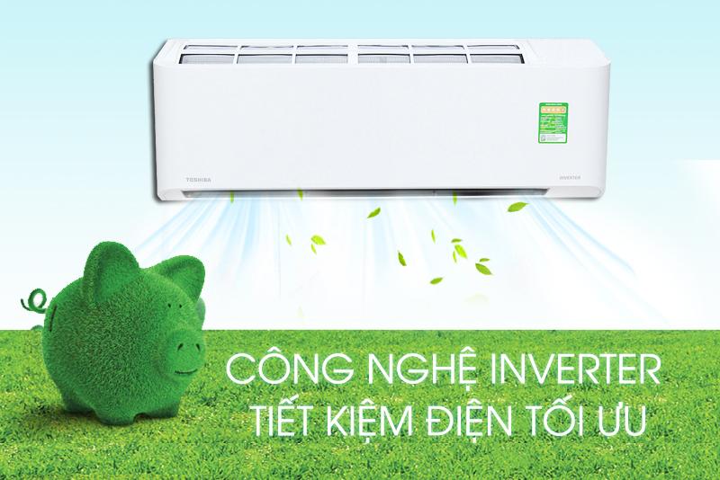 Công nghệ Inverter trên Toshiba RAS-H10BKCV-V giúp giảm chi phí điện tiêu thụ