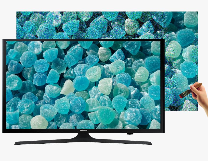 Tivi Samsung UA50J5200 với màu sắc sống động cùng hệ màu mở rộng với công nghệ Wide Color Enhancer (Plus)