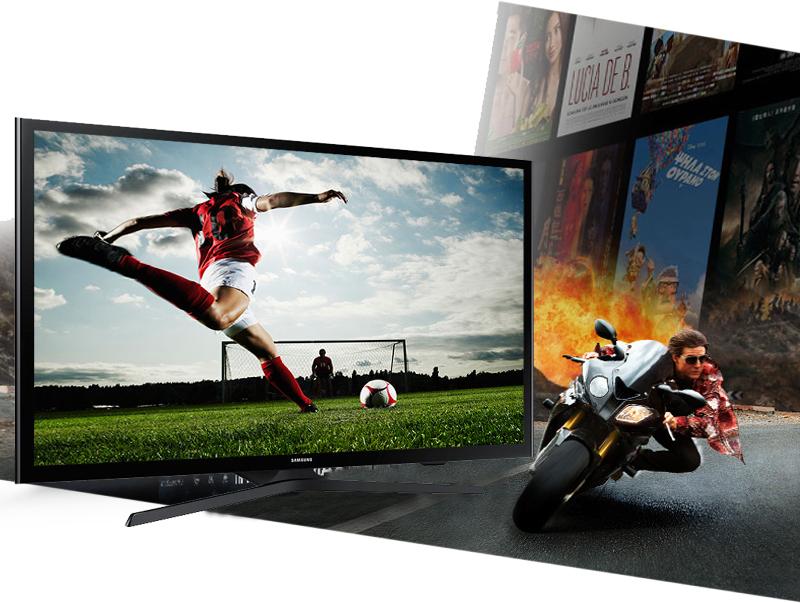 Tivi Samsung UA50J5200 với tần số quét 100 Hz giúp các hình ảnh, phân đoạn phim chuyển động nhanh trở nên rõ nét, chân thực hơn.