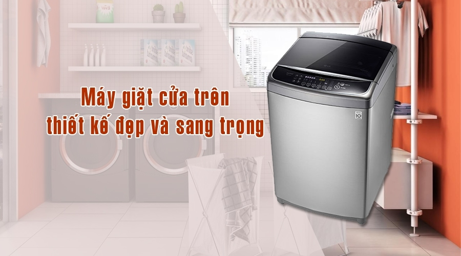Máy giặt LG WF-D1617SD 16Kg cửa trên sang trọng
