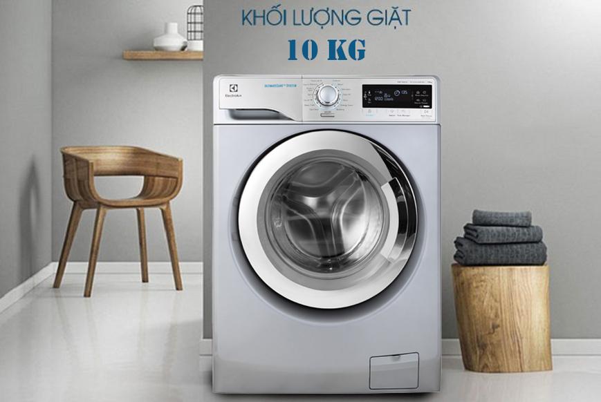 Kiểu dáng bo tròn hiện đại với máy giặt Electrolux 10 kg EWF14023S