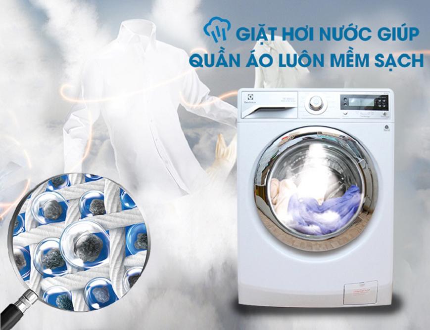 Chế độ giặt hơi nước ấn tượng