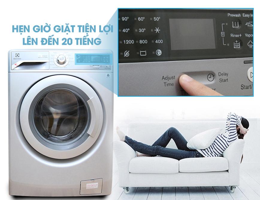 Chế độ hẹn giờ giặt tiện lợi với máy giặt EWF 12844S