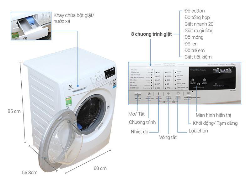 Đa dạng các chế độ giặt