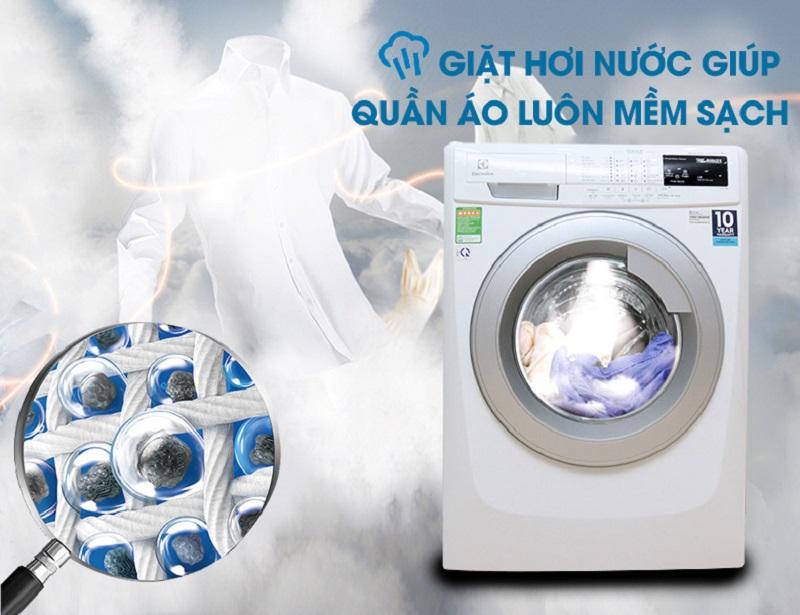 Vapour Action- Công nghệ giặt hơi nước tuyệt hảo của máy giặt lồng ngang EWF14113