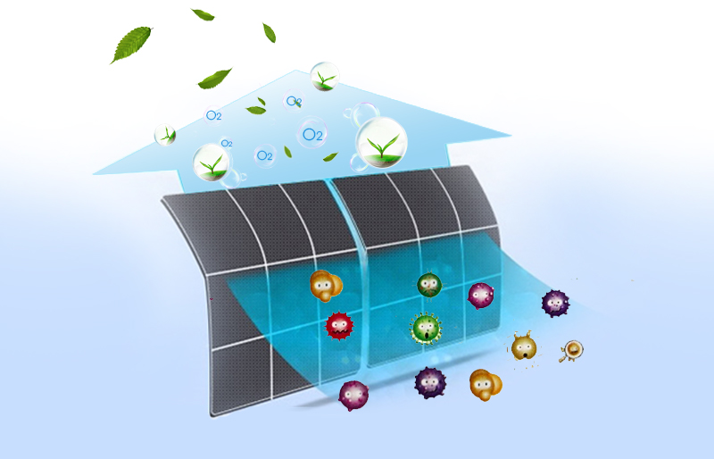 Điều hòa Toshiba RAS-H13BKCV-V trang bị bộ chống nấm mốc, diệt khuẩn thông minh