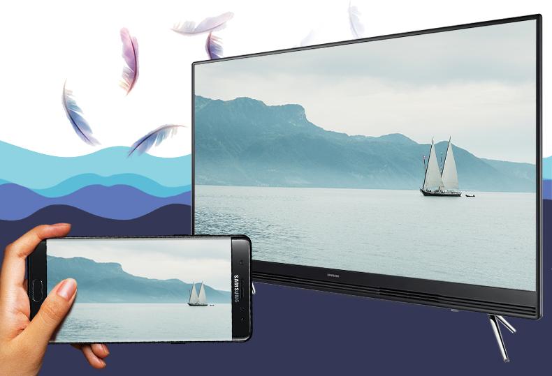 Chiếu màn hình điện thoại UA32K5300 qua Screen Mirroring