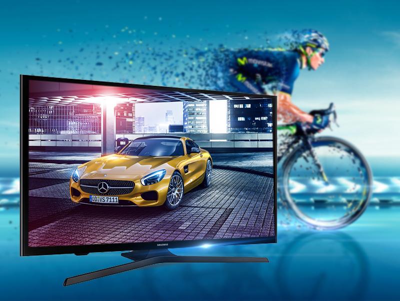 Tivi Samsung UA40J5000 có tần số quét hình 100 Hz