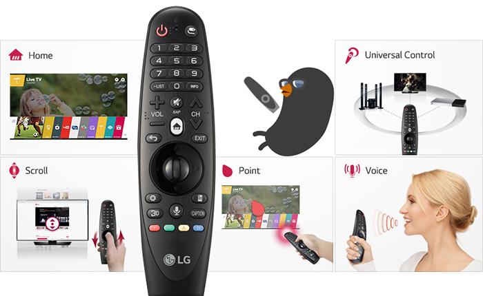 Kiểm soát các nội dung giải trí của bạn với điều khiển thông minh của LG