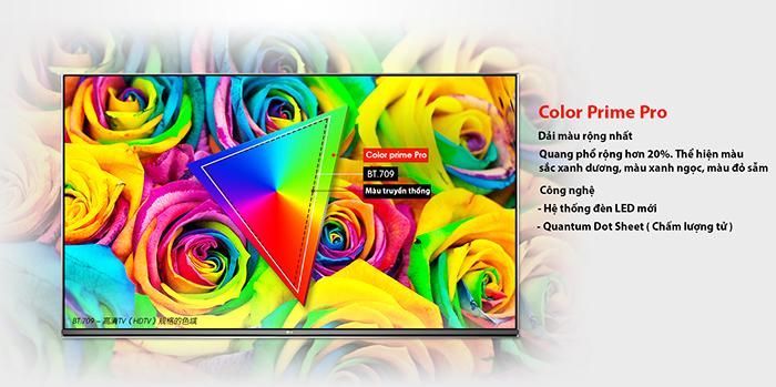 Công nghệ hình ảnh Color Prime cho người xem như đang hòa mình vào hình ảnh thực