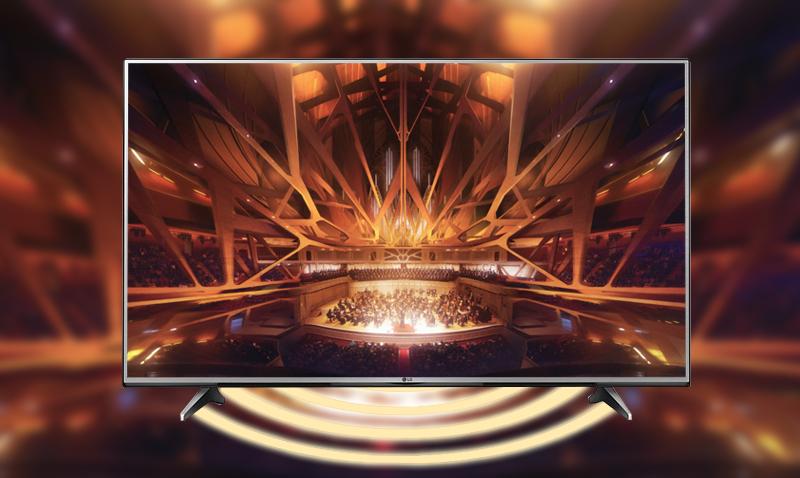 Tivi LG 60UH617T âm thanh mạnh mẽ, lan toả khắp không gian nhờ công nghệ Dolby Digital Plus