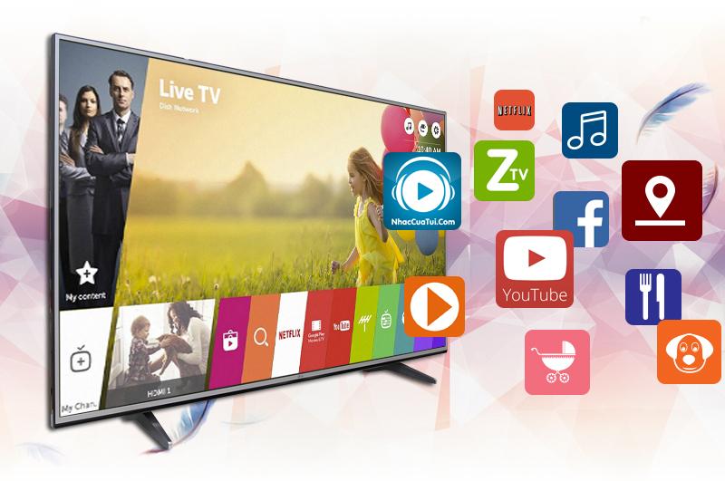 Smart tivi LG 65UH617T với nhiều ứng dụng giải trí đặc sắc