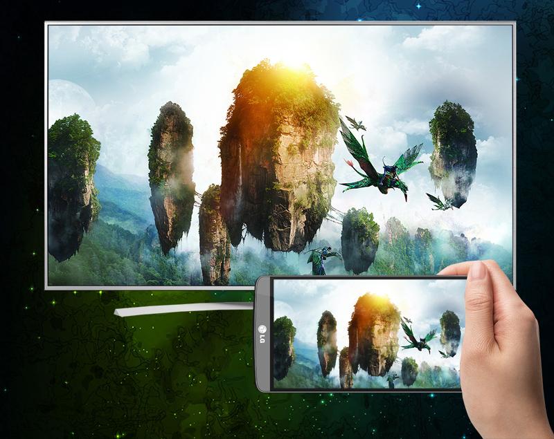 Chiếu màn hình điện thoại lên tivi LG 65UH770T qua Miracast