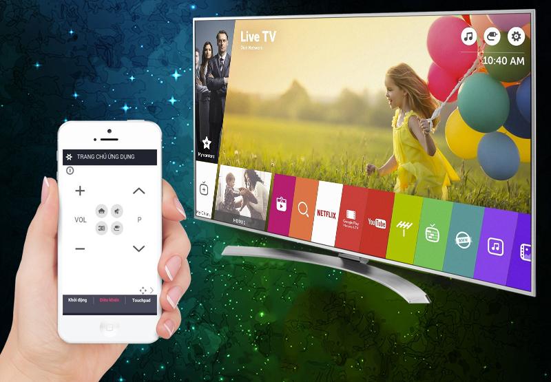 Tải ứng dụng LG TV Plus về điện thoại để điều khiển tivi LG 65UH770T