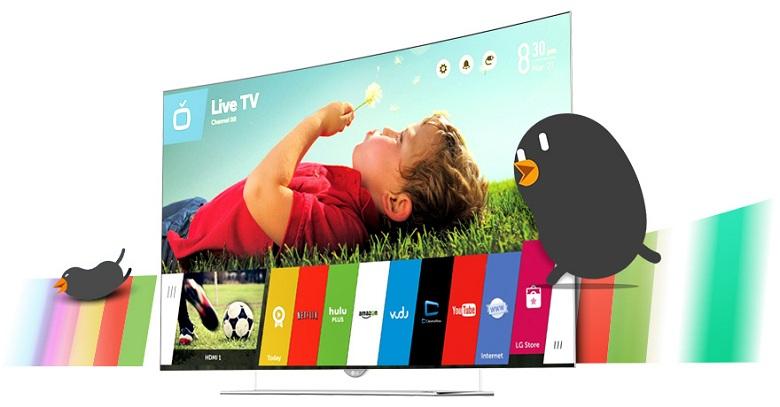Lướt web, xem phim, đọc báo, nghe nhạc, … trên tivi LG 65G965T
