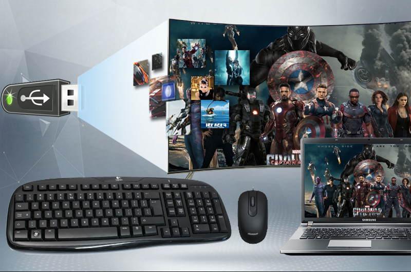 Kết nối tivi với USB, dàn máy, đầu DVD,…
